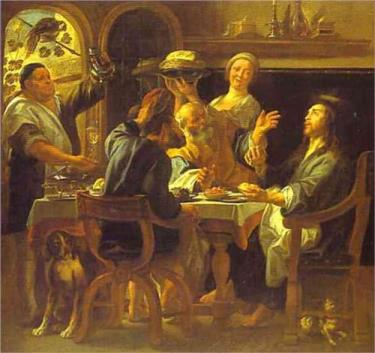 Supper at Emmaus, Jacob Jordaens