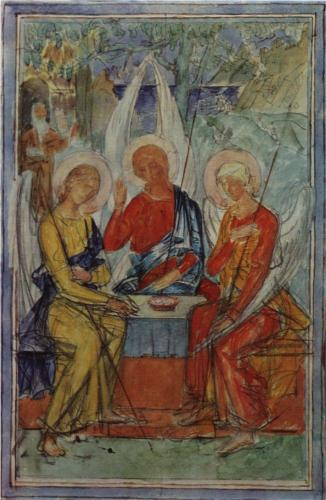 Trinity, 1915, Kuzma Petrov Vodkin