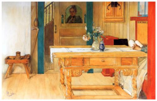 Sunday rest, Carl Larsson