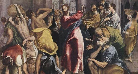 El Greco, Christus treibt die Händler aus dem Tempel