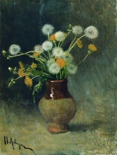 Dandelions,Isaac Levitan