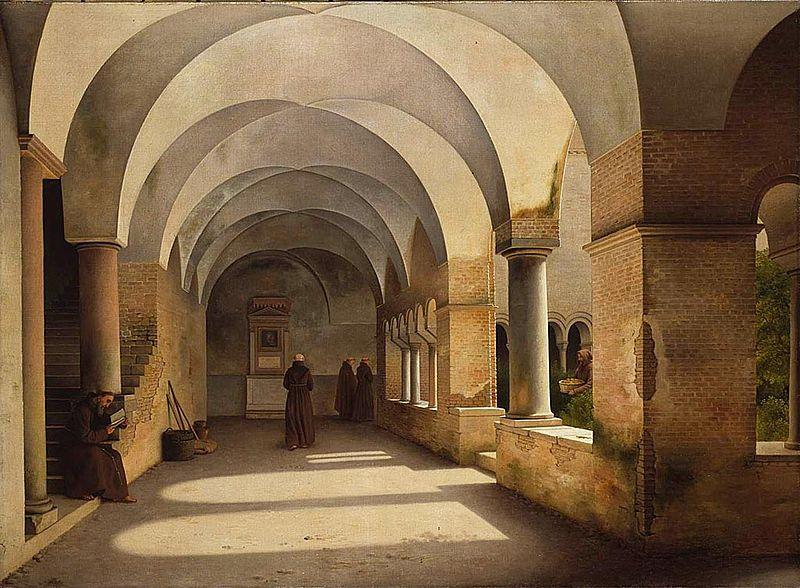 Christoffer Wilhelm Eckersberg The Cloisters, San Lorenzo fuori le mura, 1824