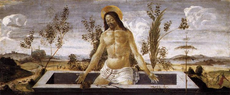 Christ in the sepulchre, Sandro Botticelli