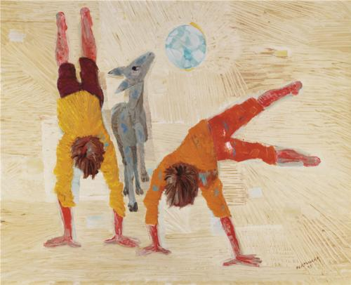 Boys playing, wikiart.org.uk