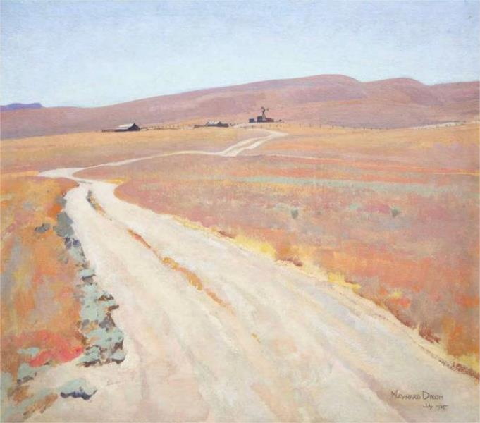 Abandoned ranch, Maynard Dixon (wikiart)