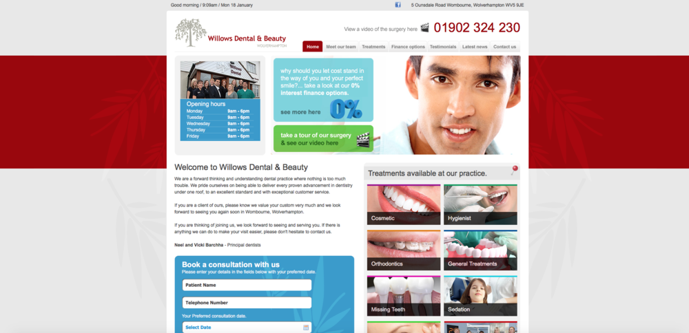 willows-dental-website