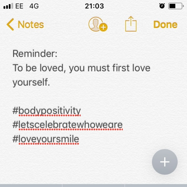 Just because the phone doesn't recognise self love, doesn't mean I can't...