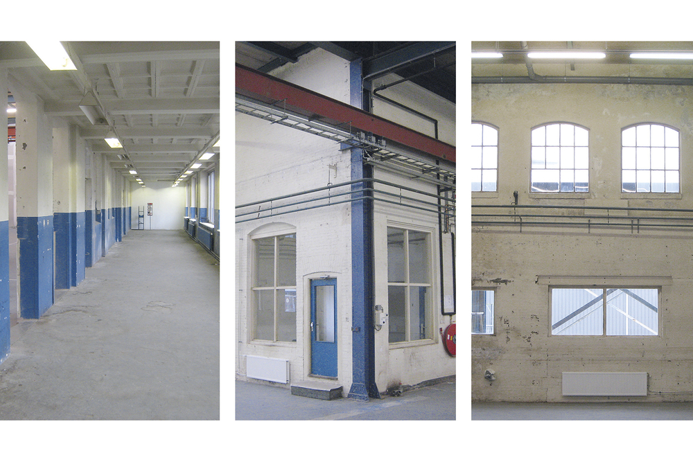 The dimensions of the old factory buildings correspond well to the spaces needed for the studios. Only a few columns have to be replaced or removed, for which fortunately there is the benefit of extra support from the existing foundations. These minimal alterations to the construction mean big savings on building costs.