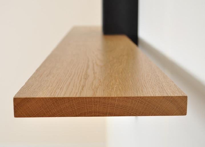Bog Oak shelving detail