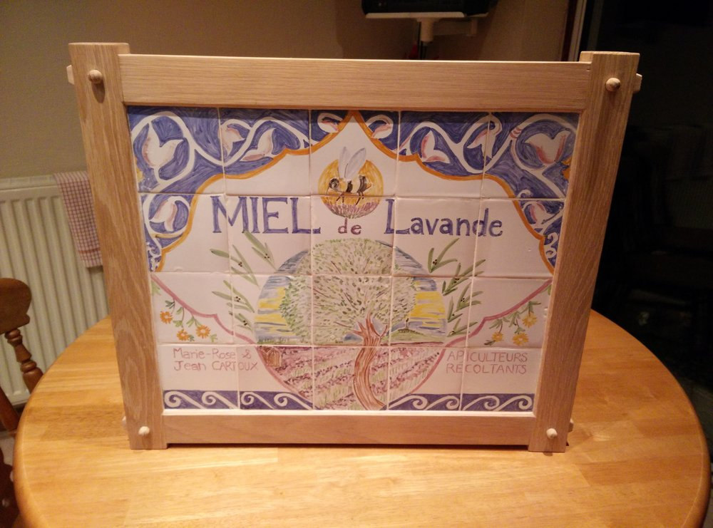 Traditional oak frame with tiles