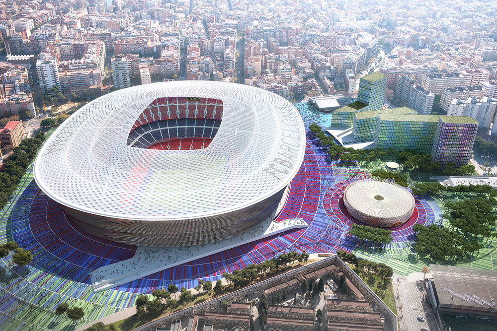 FCB Stadium Competition |  b720 Arquitectos  | Barcelona, Spain