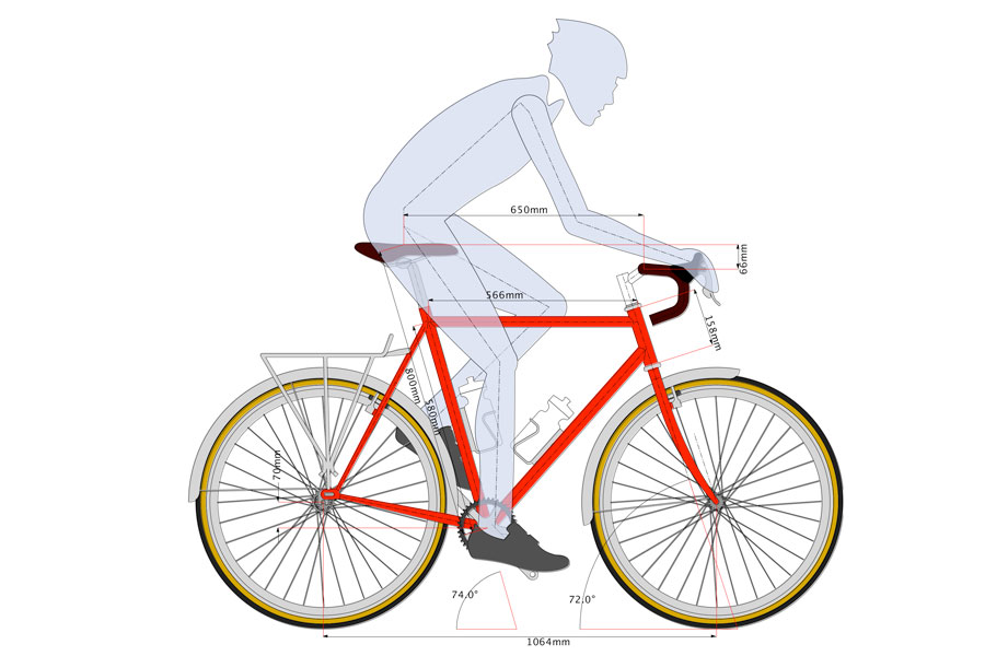 With all the information we will make a design/simulation. This representation will be used during the construction but it is also a way to have an idea of how the bike will look like and the different options of positions that can be achieved.