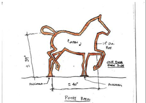 Pony Barn Bike Rack
