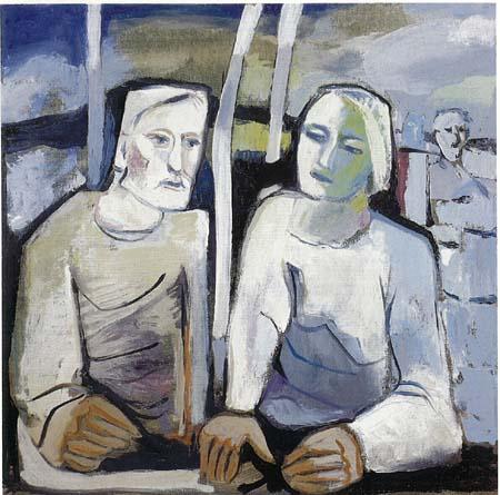 Angelo Fassina - Figure / Colloquio 1999 (Olio su tela cm 70x70)