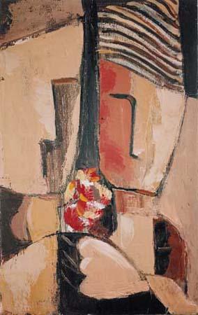 Angelo Fassina - Fiori / Colloquio con i fiori 1999 (Olio su tela cm 25x40)