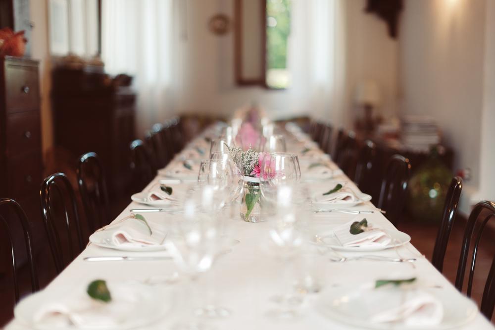 La tavola nella Sala delle Zuppiere
