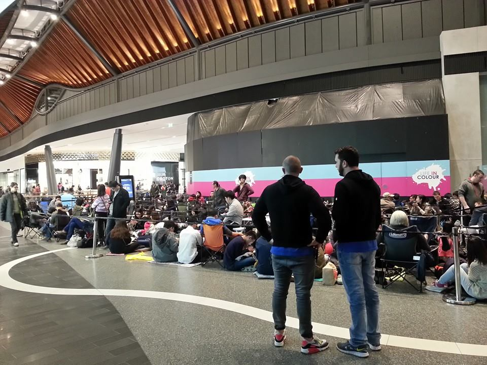 The line at Highpoint Shopping Centre, Melbourne, Australia