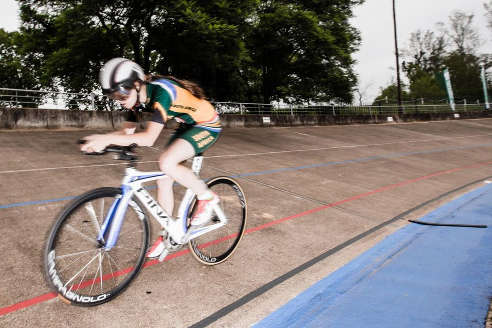 South African para-cycling star Roxy Burns showed some good early season form in her quest to qualify for the para-cycling World Championships when she took part in the C4-C5 women's individual pursuit at the African Track Cycling Championships at the Sax Young Cycling Track in Pietermaritzburg © Craig Dutton/Gameplan Media