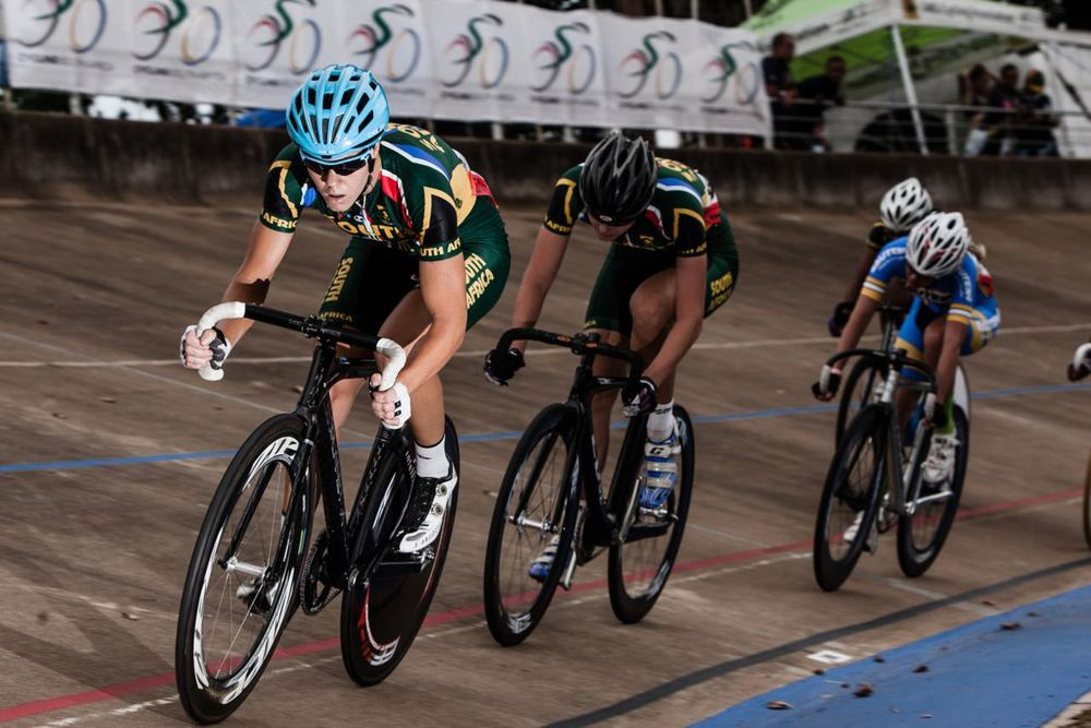 It was Maroesjka Matthee who stole the show when she claimed the lion's share of gold medals at African Track Cycling Championships at the Sax Young Cycling Track in Pietermaritzburg © Craig Dutton/Gameplan Media