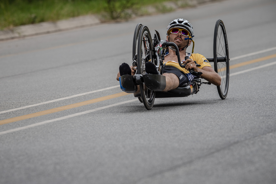 Day two of the 2015 Pennypinchers South African Road, Time Trial and Para-cycling Championships started with the para-cycling road races and it was Pieter du Preez who managed to claim the national title in the men's H1,H2 Hand cycling race. Photo: craigdutton.com
