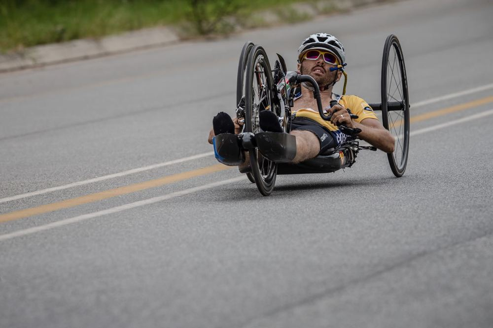 Day two of the 2015 Pennypinchers South African Road, Time Trial and Para-cycling Championships started with the para-cycling road races and it was Pieter du Preez who managed to claim the national title in the men's H1,H2 Hand cycling race. Photo credit: craigdutton.com