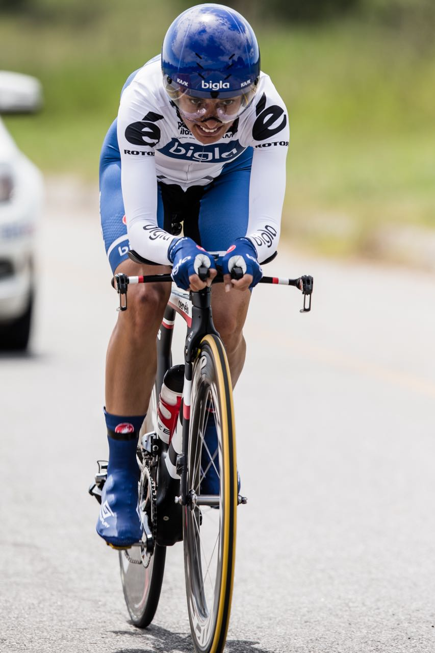 An accomplished performance from international racing star Ashleigh Moolman Pasio saw her claim her hat-trick of Elite Women's Time Trial national championships on day three of the 2015 Pennypinchers South African Road, Time Trial and Para-cycling Championships. Photo: craigdutton.com