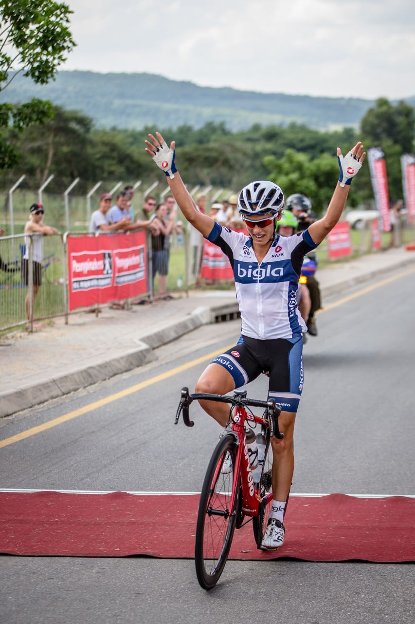 The Women's Road Race on Saturday was a hard fought affair until 2014 champion Ashleigh Moolman Pasio showed her class to pull away from the rest of the field to win on day five of the 2015 Pennypinchers South African Road, Time Trial and Para-cycling Championships © craigdutton.com