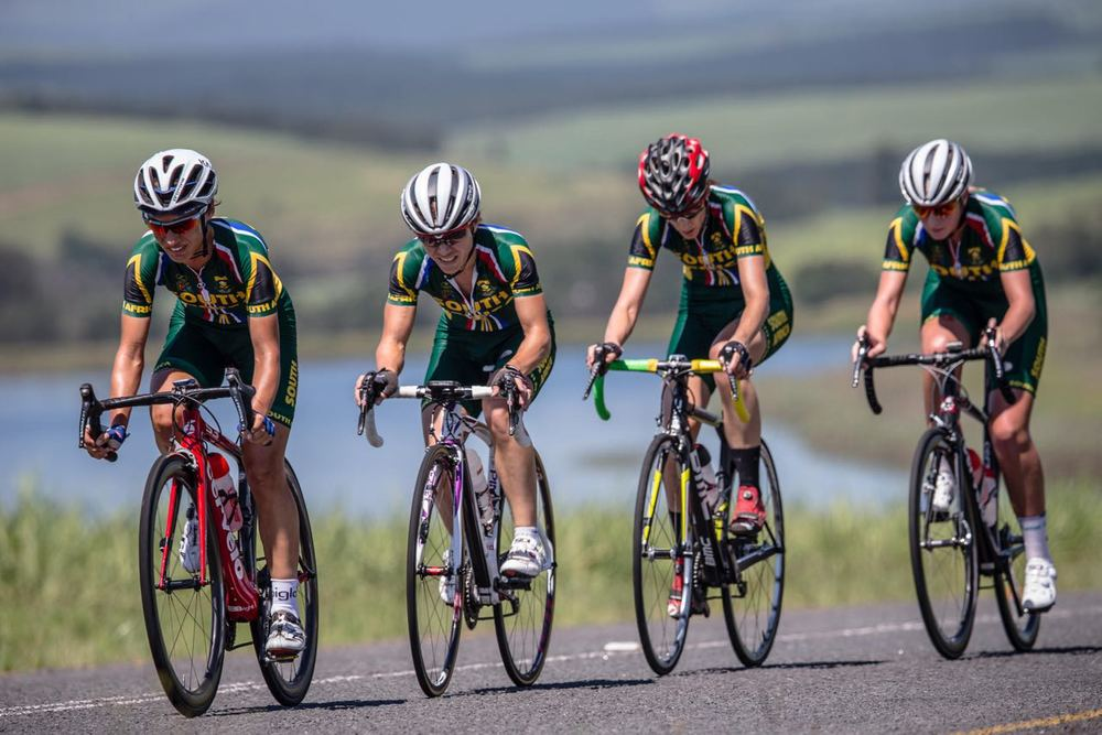The Confederation of African Cycling African Road Championships kicked off with the Team Time Trial event and the South African Elite Ladies team coasted to victory by a substantial margin on Monday © craigdutton.com