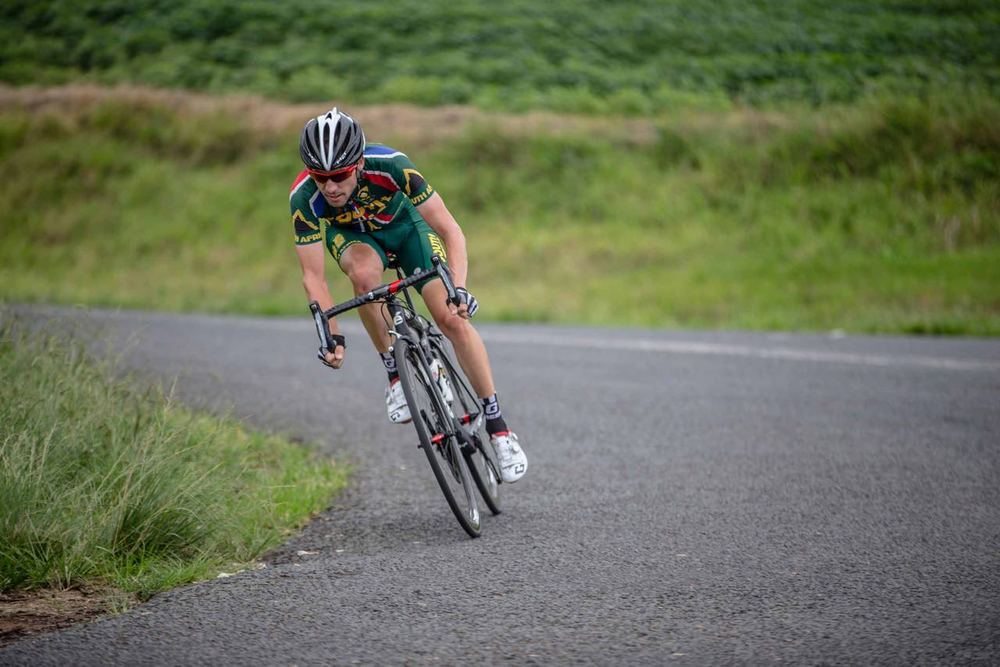 Jacques Janse van Rensburg followed up his national title recently with the bronze medal in the Elite Men's Road Race on day six of the 2015 Confederation of African Cycling African Road Championships on Saturday © craigdutton.com