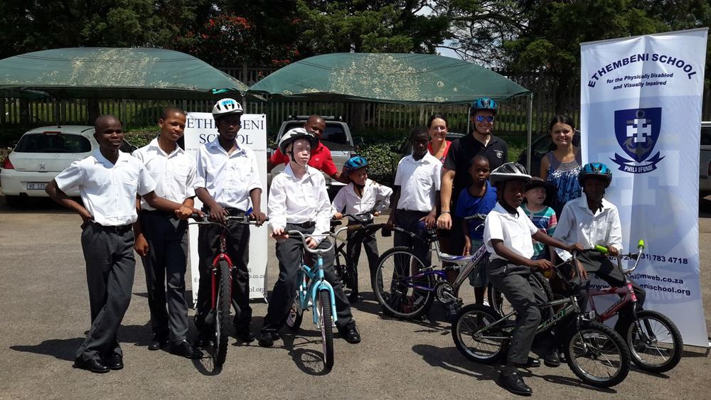 The learners at Ethembeni School for the Physically Disabled and Visually Impaired will have many hours of cycling pleasure with the donation of five bicycles and two trailer cycles and there will surely be some young Para-cycling superstars emerging from this area. Photo: supplied