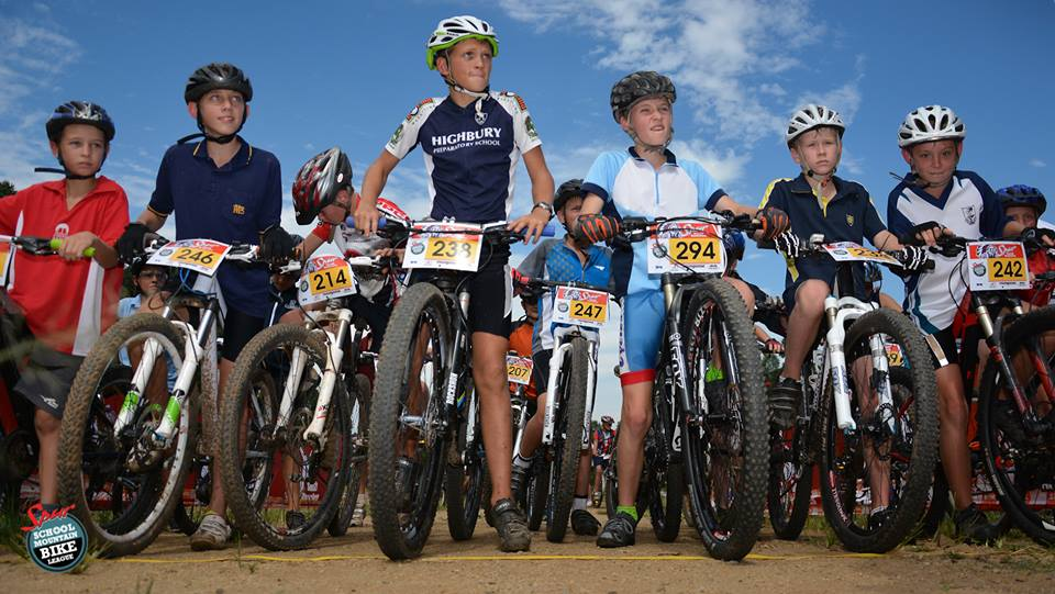 Young riders gather at the start at the first round of the Spur KZN Schools MTB Series 2015. The second round takes place at Cascades MTB Park in Pietermaritzburg on Friday 3 April 2015. Gavin Ryan
