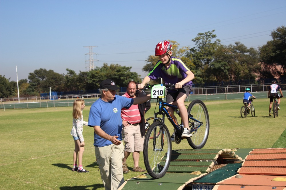 Leaners were able to develop their cycling skills at the Solomon's Primary Schools MTB Development Series, presented by SASC on Saturday 2 May 2015. Photo: Shinead Wannenburg