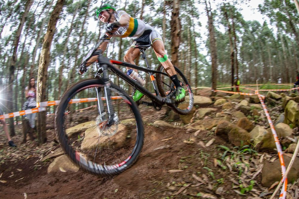 Novus OMX Pro Team and Women's Elite rider, Mariske Strauss, has taken victory in two of three, and will be competing in the fourth round of the 2015 Stihl SA MTB Cup XCO at Cascades, Pietermaritzburg, on 27-28 June. Photo © Craig Dutton/pics2go.co.za
