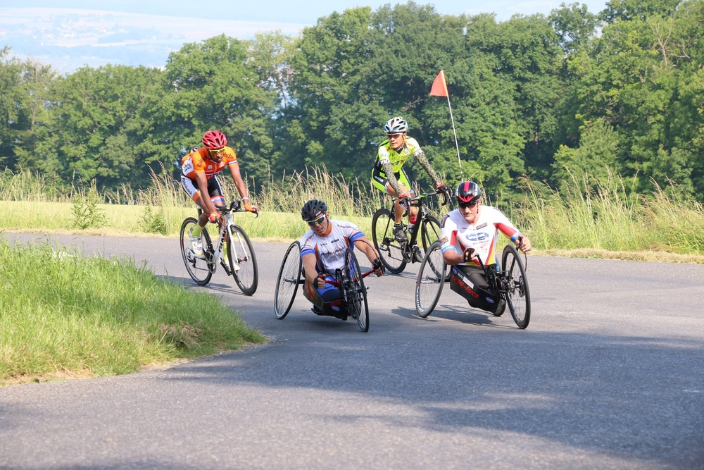 The 14.53 km road race loop, ridden in various multiples by riders in different classes, includes some killer climbing gradients and tight descending switchbacks at round two of the 2015 UCI Para-cycling Road World Cup in Yverdon-Les-Bains, Switzerland, from 14-16 June © Illse du Preez