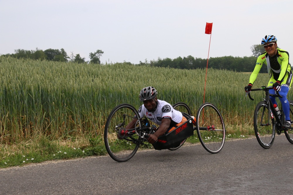 Handcyclist Simon Makgobela is relishing the chance to compete at round two of the 2015 UCI Para-cycling Road World Cup in Yverdon-Les-Bains, Switzerland, from 14-16 June © Illse du Preez