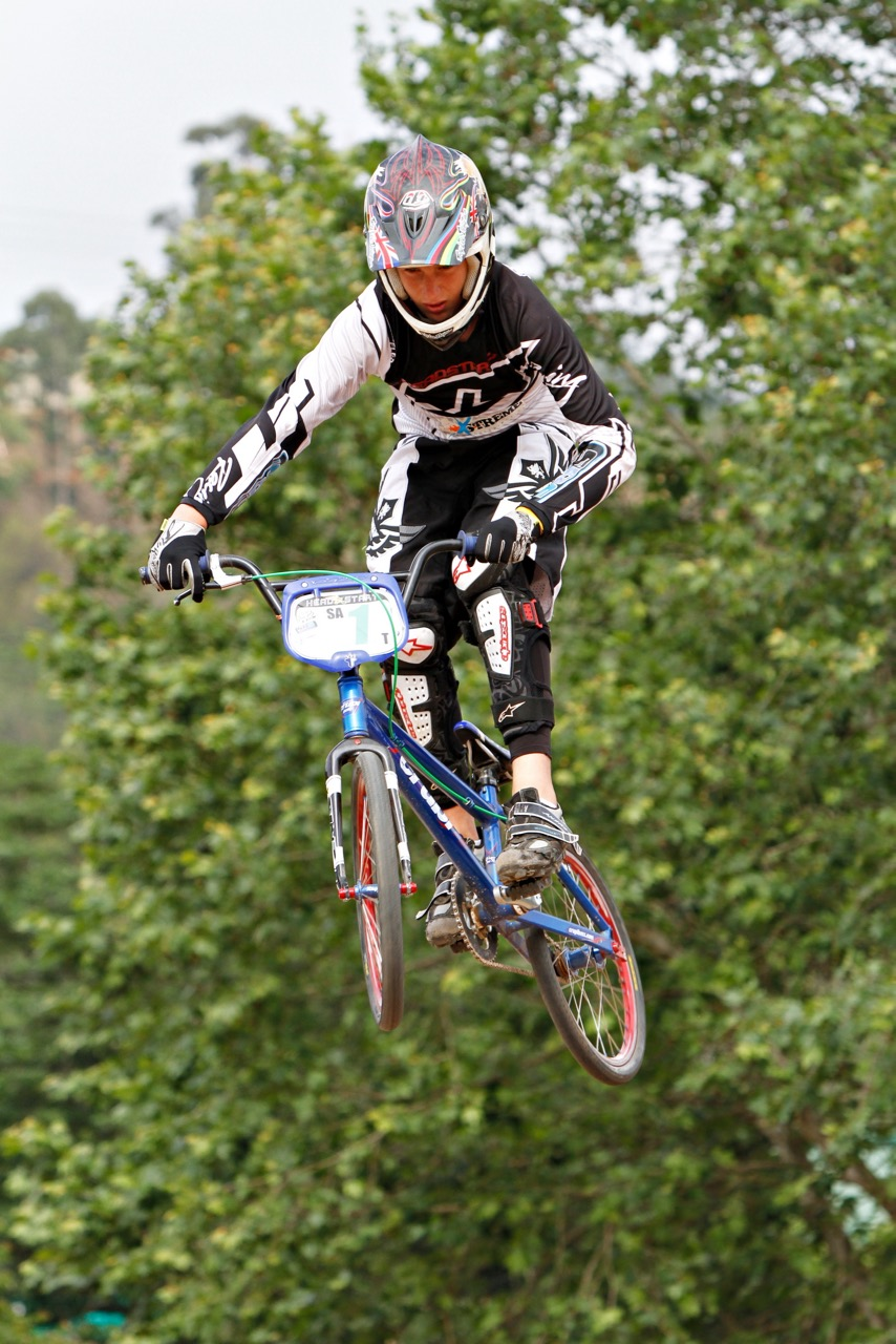 Connor Terblanche (Alrode BMX Club) is looking forward to racing rounds four, five and six of the 2015 BMX National Age Group (N.A.G.) Championship Series, which take place at Alexandra Park, Pietermaritzburg, from 4-5 July. Photo: Kevin Bender