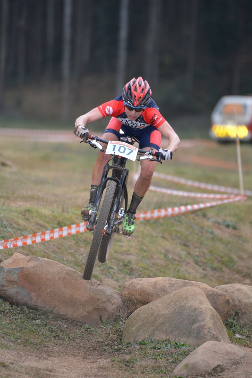 Novus OMX Pro Team and Women's Elite rider, Cherie Vale,claimed the Elite Women's victory in the last round round of the 2015 Stihl SA MTB Cup XCO at Cascades, Pietermaritzburg, on 27 June. Photo: Gavin Ryan/Quick Pix