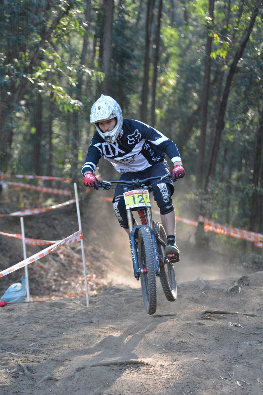 Sub Vet Men's winner, Craig Paul, came in 15 seconds faster than his category competitors at the fourth round of the 2015 Stihl SA MTB Cup DHI at Cascades, Pietermaritzburg, on Sunday 28 June. Photo: Gavin Ryan/QuickPix Photography