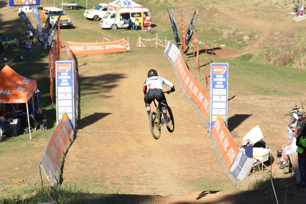 Tiaan Odendaal, who after four rounds, topped the Elite Men's DHI log in the 2015 Stihl SA MTB Cup Series. Gavin Ryan/QuickPix Photography