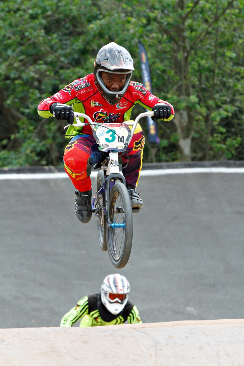 Manqoba Madida (Giba BMX Club KZN) feels strong and ready ahead of the 2015 UCI BMX World Championships in Heusden-Zolder, Belgium, from 21-25 July. Photo: Kevin Bender