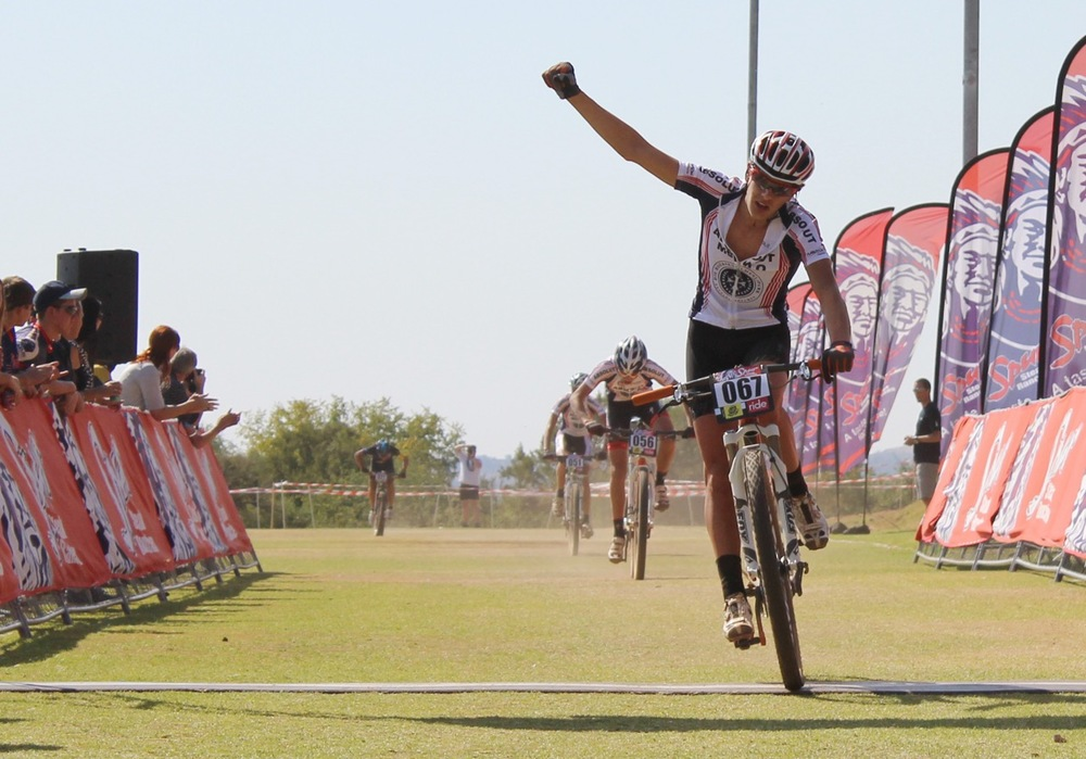 Martien Venter (Hoërskool Menlopark) winning the Junior Men Category. Photo: supplied