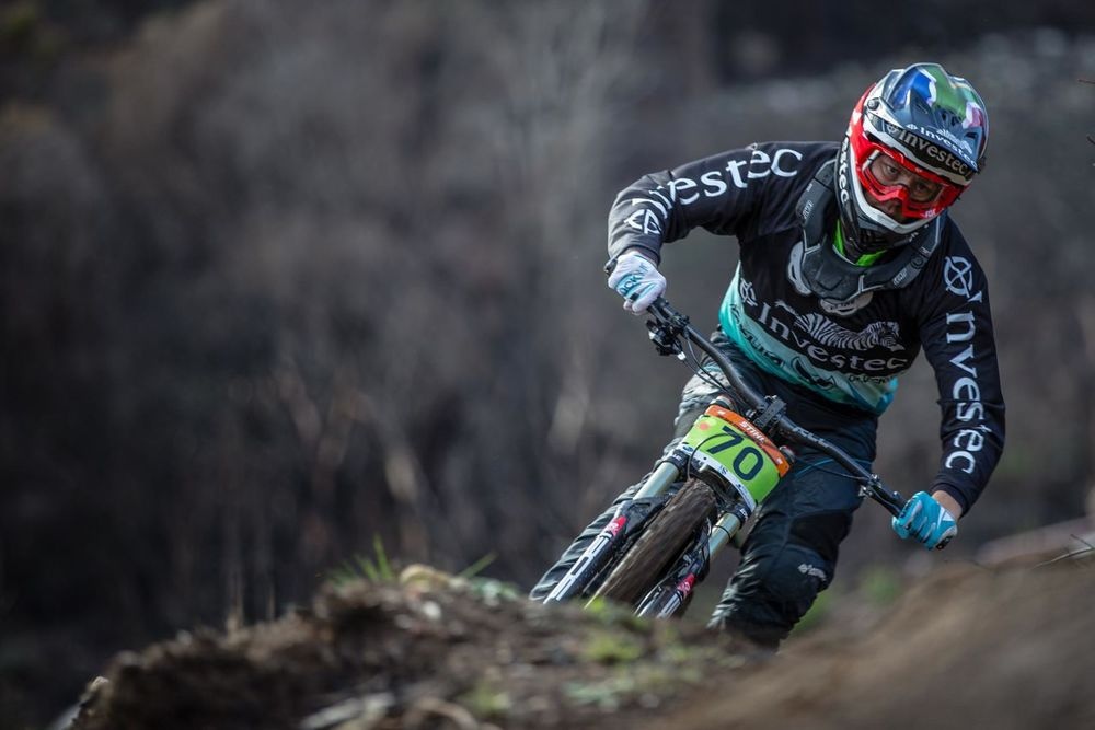 It was a moment to savour for Investec's Stefan Garlicki at the 2015 Stihl South African Mountain Bike Championships presented by Subaru Cape Town/Novus Holdings on Sunday 19 July. Craig Dutton/pics2go.co.za