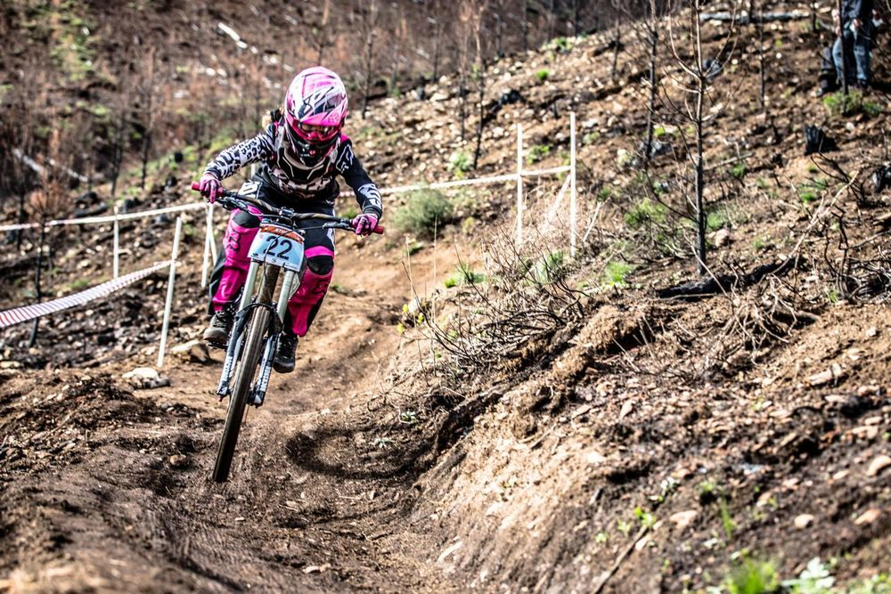 Having performed well in the Cross Country on Saturday the young Sabine Theis was the second fastest women down the Jonkershoek Downhill course at the 2015 Stihl South African Mountain Bike Championships presented by Subaru Cape Town/Novus Holdings on Sunday 19 July. Craig Dutton/picss2go.co.za