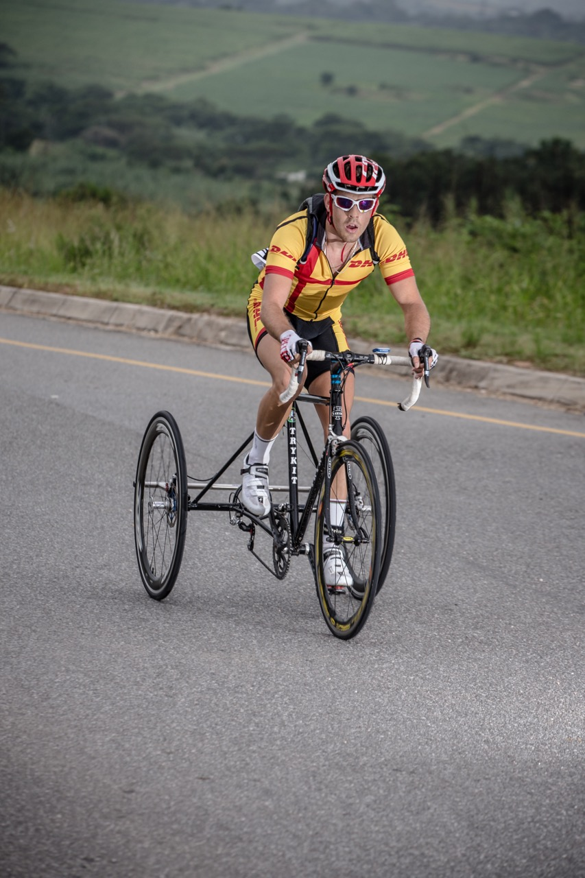 T2 Tricyclist, Goldy Fuchs is making excellent headway at the UCI Para-cycling Road World Cup series in Germany, only a few days before the World Championships in Nottwil, Switzerland, from 28 July to 2 August.