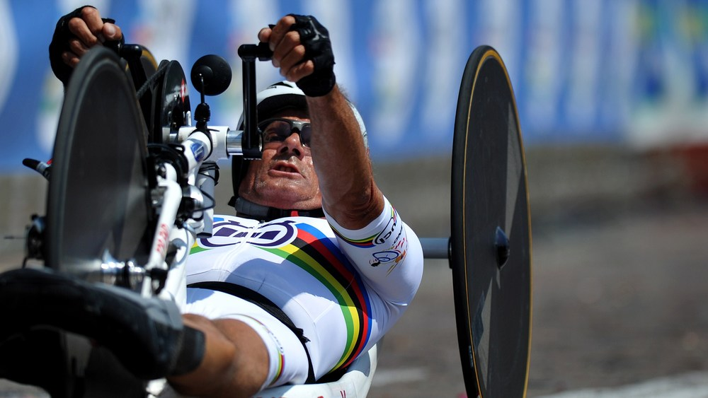 Paralympic Gold medalist Heinz Frei (SUI) is looking forward to coming to South Africa and reclaiming another World Cup Gold in the 2015 UCI Para-cycling Road World Cup in Pietermaritzburg from 11-13 September. Photo: © Jean-Baptiste Benavent/ uci.ch