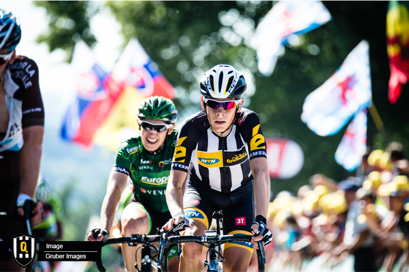South Africa's Louis Meintjes of Team MTN-Qhubeka currently lies in 12th position on the General Classification, 2 minutes 25 seconds off the leader in the La Vuelta a Espana. Photo: MTN-Qhubeka