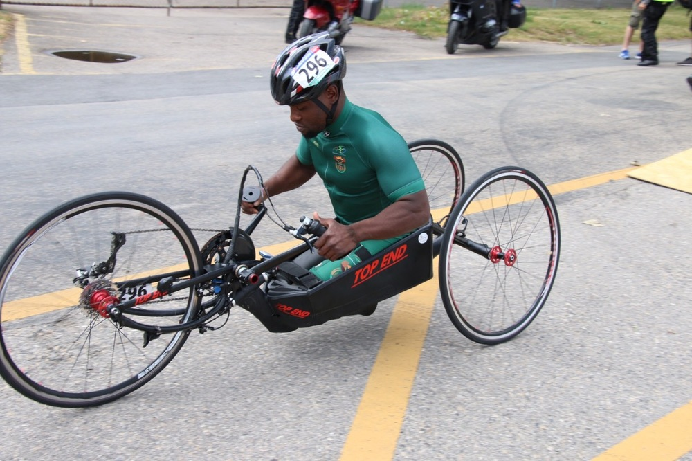 Considered a fledgling to the sport of handcycle racing, Simon Makgobela is relishing the opportunity to test his ability against his peers at the 2015 UCI Para-cycling Road World Cup Pietermaritzburg from 11-13 September. Photo credit: Illse du Preez.