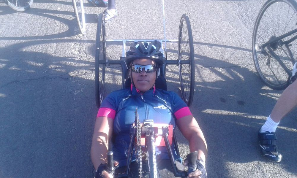 Palesa Manaleng is feeling great excitement in taking part in her first international event at the 2015 UCI Para-cycling Road World Cup Pietermaritzburg from 11-13 September. Photo supplied.