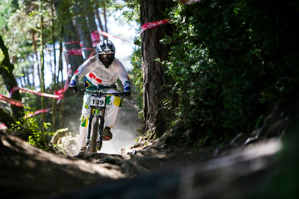 Mark Millar formed part of the seven downhill rider crew from South Africa as he competed in the 2015 UCI Mountain Bike Masters World Championships in Vallnord (Andorra) from the 23-27 August. Photo: Supplied