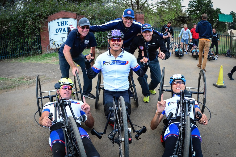 The team relay wrapped up a brilliant weekend of racing in the southern hemisphere, with Team USA taking top honours on day three of the 2015 UCI Para-cycling Road World Cup in Pietermaritzburg on Sunday 13 September. Photo credit: Darren Goddard